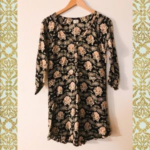 O'Neill 💚🖤 Flower dress with long sleeves